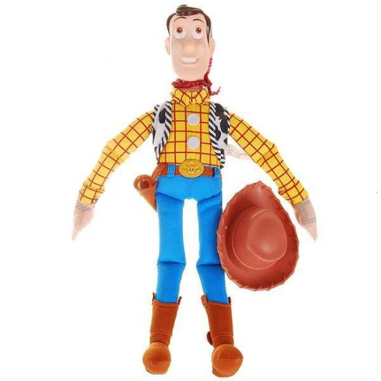 Woody Action Figure Doll Toy with Hard Plastic Head and Hat