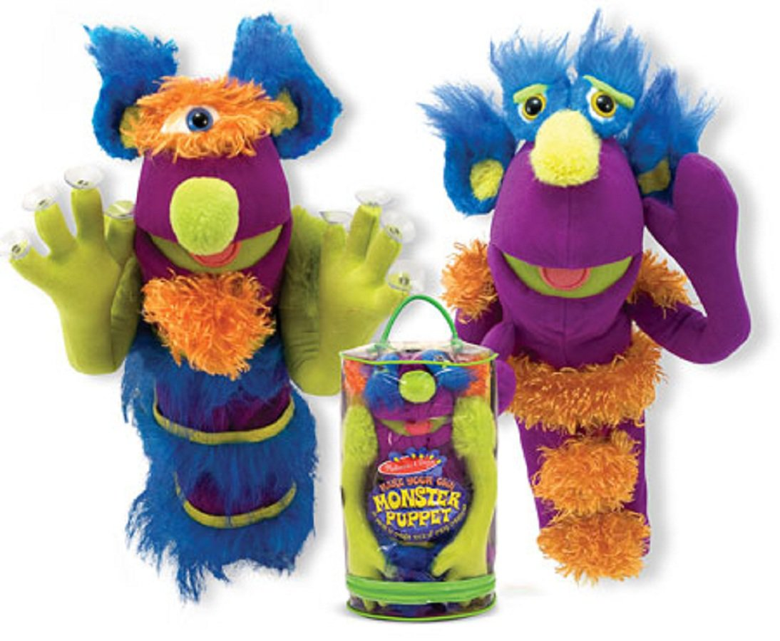 Melissa & Doug Deluxe Make-Your-Own Monster Puppet **FREE SHIPPING**