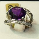 3ct Amethyst and diamond ring