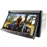 2-DIN 7 Inch Touch Screen Car Media System and GPS Navigator
