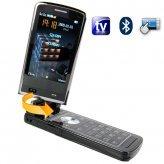 Quad Band Touchscreen Flip-Phone w/ Dual SIM, TV, Accelerometer