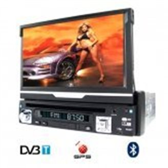 Car DVD with GPS, DVB-T and Bluetooth (1-DIN) - iPod Compatible