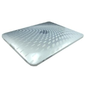White Protective Clear Wave Premium Crystal Candy TPU Silicone Skin Case for iPad - [NV-IPD2008]