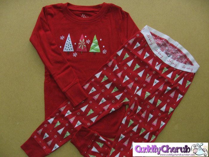 Old Navy Baby Girl Pajamas, Red Christmas