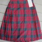 New Kilt Skirt  James Pringle Weavers Highland Clan Lindsay sz 12 L 27  Costume