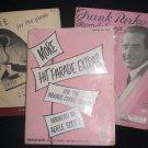LOT 3 VINTAGE MUSIC BOOKS 1946 1936 1942 FRANK PARKER S