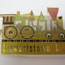 "Lions Club Pin Rare Vintage Stewartstown Lions Train Pin Tac Back 2 1/2"" Can add"