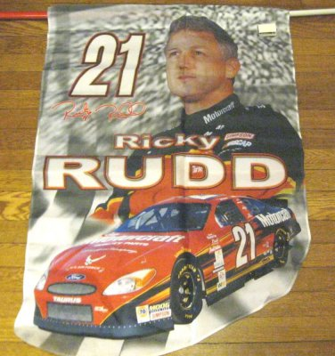 NASCAR Flag Ricky Rudd #21 New  Die Cut Flag