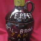 RELCO JAPAN CREATIONS PEPPER LITTLE BROWN JAM JAR