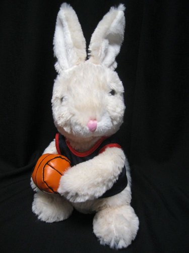 "Basketball  Bunny by Dan Dee Collectors Choice Navy & Red Jersey 11"" tall"