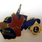 Lions Club Pin Vintage Rare West Virginia 1981 Red Bird Cardinal