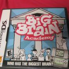 BIG BRAIN ACADEMY DS GAME W INST. GAME CASE RATED E EXCELLENT COND.