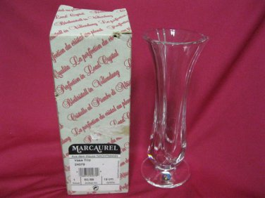 MARCAUREL LEAD CRYSTAL VASE IN BOX MADE IN GERMANY VINTAGE