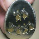 Pin Pendant Signed M Katz Jerusalem 86-87 Sing and Rejoice Original Box Dancing
