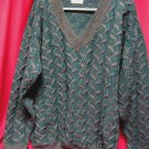 Mens Umberto Styled in Italy Sweater Sz L Green Grey