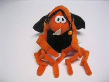 Commonwealth Toys Mosquito Rare Beanie Plush Toy 1994  Stuffed Animal HTF Orange
