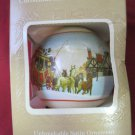 Vintage HALLMARK SATIN Ornament  CHRISTMAS MEMORIES 1980 GEN. FOAM PLASTICS VA