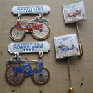 LIONS CLUB PIN & STICK  14-H 1983 DURYEA SET 4 BICYCLE