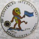 Lions Club Pin Vintage Rare Brasil 1976 Hawaii International Convention Pin Back