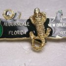 Lions Club Pin Rare Alligator Auburndale Florida 1977 New Orleans