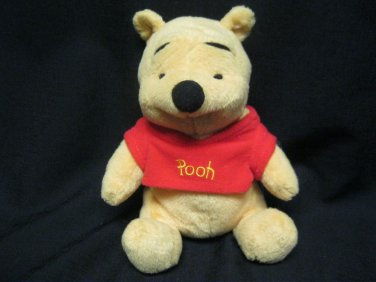 "Winnie The Pooh Plush & Beanie  Stuffed Animal  6"" while sitting"