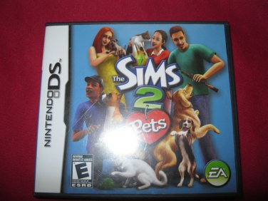 NINTENDO DS DSI SIMS 2 PETS  GAME & CASE & INSTRUCTIONS RATED E