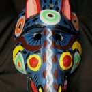 Hand Carved Wood Wooden Mask Animal Hand Painted Colorful wall art Deco