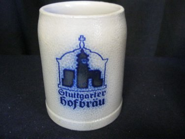 Gtuttgarter Hofbräu Stoneware Stein Mug - 0.5 Liter - Antique Vintage Germany
