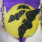 Halloween Flag Bats moon  outside Hang on Pole decoration