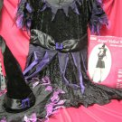 Witch Costume Regal Velvet Dress Hat  Sz M L by PMG Halloween Black Purple Pink