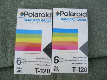 VHS Tape New Sealed Polaroid Video Cassette Tape 6 hours T-120 2 tapes