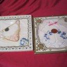 Vintage Hanky Handkerchiefs Lovely Hankies Switzerland Fine loom Pearls lace