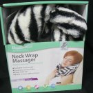 Neck Wrap Massager by Health Touch Portable Lightweight Zebra Comfort Fabric