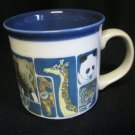 Cup Mug Otagiri Japan Animals Panda Zebra Lion Elephant Tiger Rino Giraffe Zoo