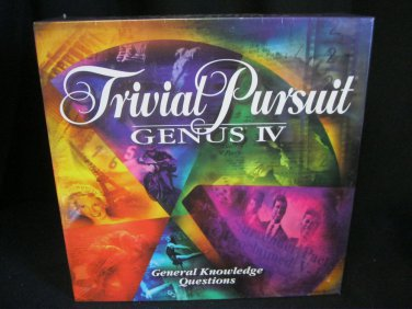 New Sealed Trivial  Pursuit Genus IV Game Parker Brothers 1996