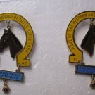 Lions Club Pins Horse Shoe 1977 1978 Western Quarter Horse Show Armada Michigan