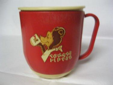 Vintage Trainer Tommee Tippee Cup Red w Lid Sip n Tip Baby Sippy Drinking
