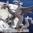 1987- Three Headed Pewter  Dragon