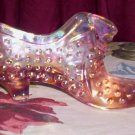 Carnival Glass Shoe