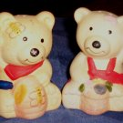 Vintage Salt and Pepper Shakers, Teddy Bears