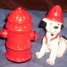 Vintage Salt & Pepper Shakers, Dalmation / Fire Hydrant