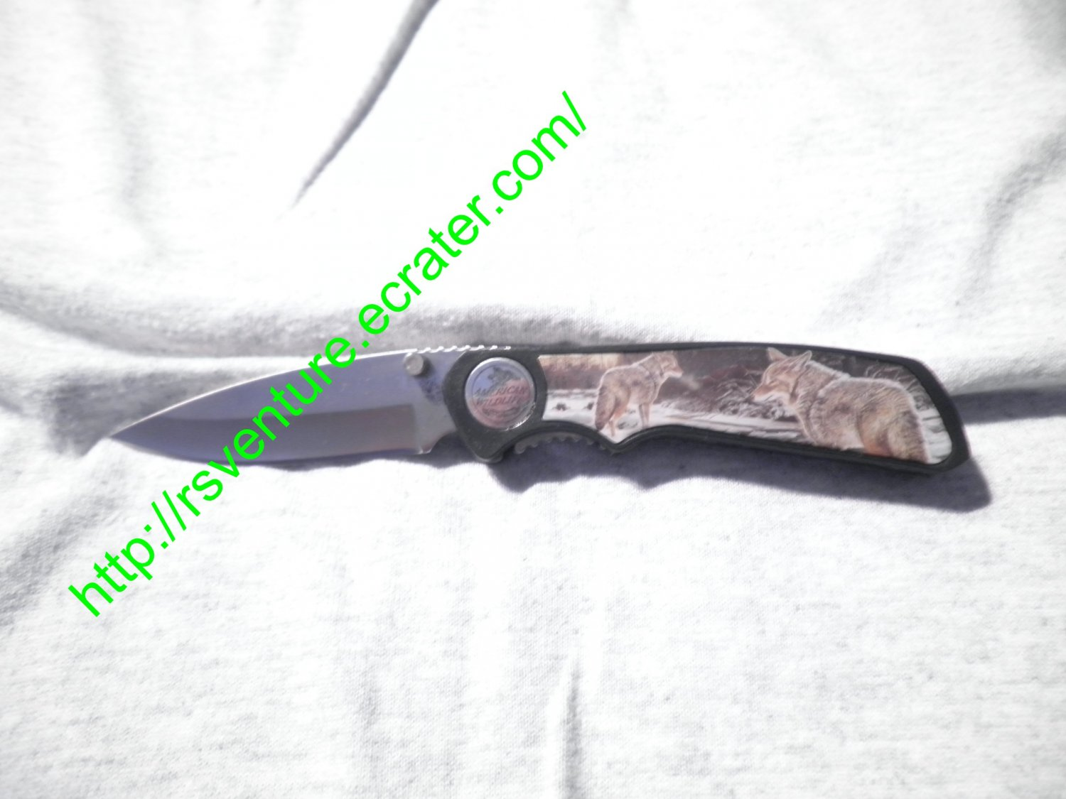 American Wildlife Series Wolf Knife
