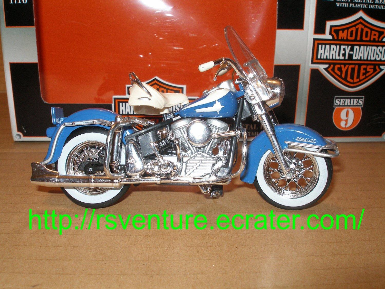 Vintage Maisto 1962 Harley Davidson FLH Duo Glide Motorcycle
