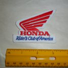 Honda Rider's Club of America Embroidered Patch