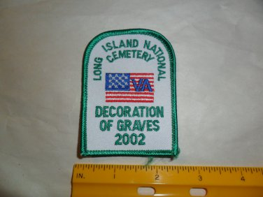 Long Island National Cemetery Decoration of Graves Patch 2002