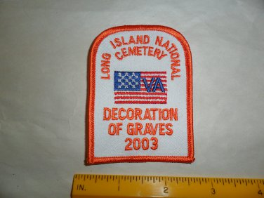 Long Island National Cemetery Decoration of Graves Patch 2003