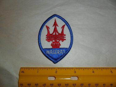 Vintage Maserati Embroidered Patch
