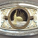 Statue of Liberty Half Dollar Cut Coin Belt Buckle