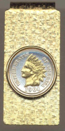 Indian Head Penny Coin Money Clip