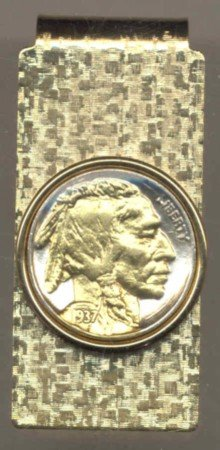 Indian Head Nickle Coin Money Clip